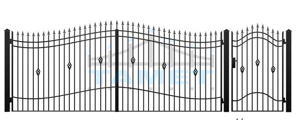 Brama skrzydłowa A06